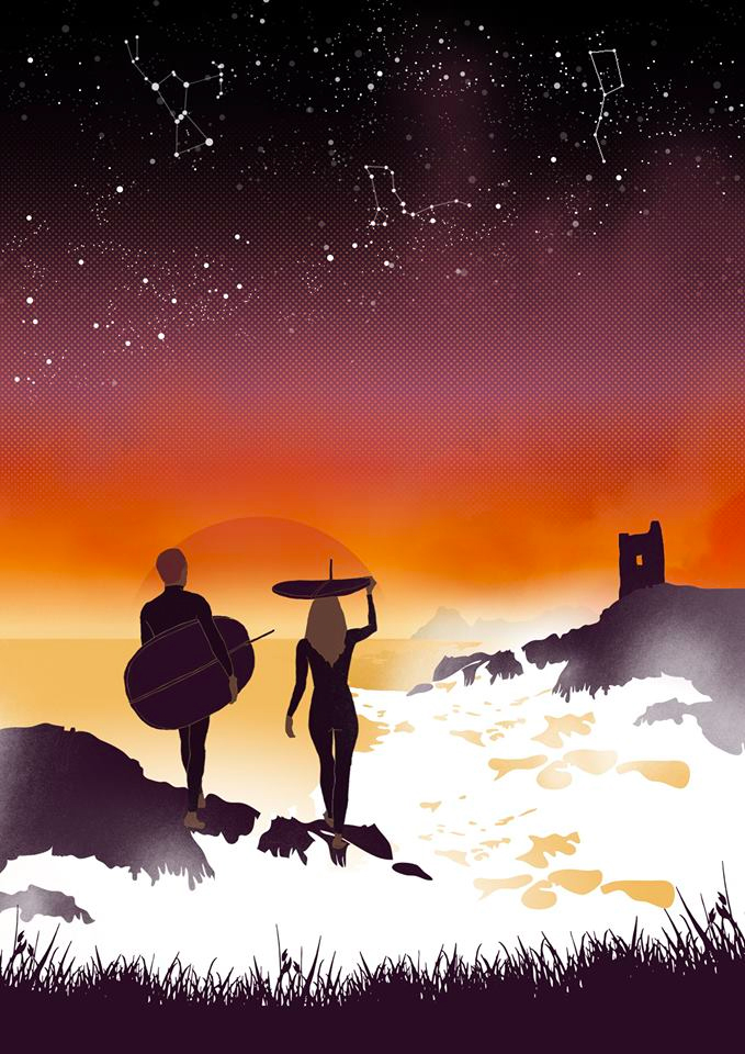 Reddin designs seafest poster illustration
