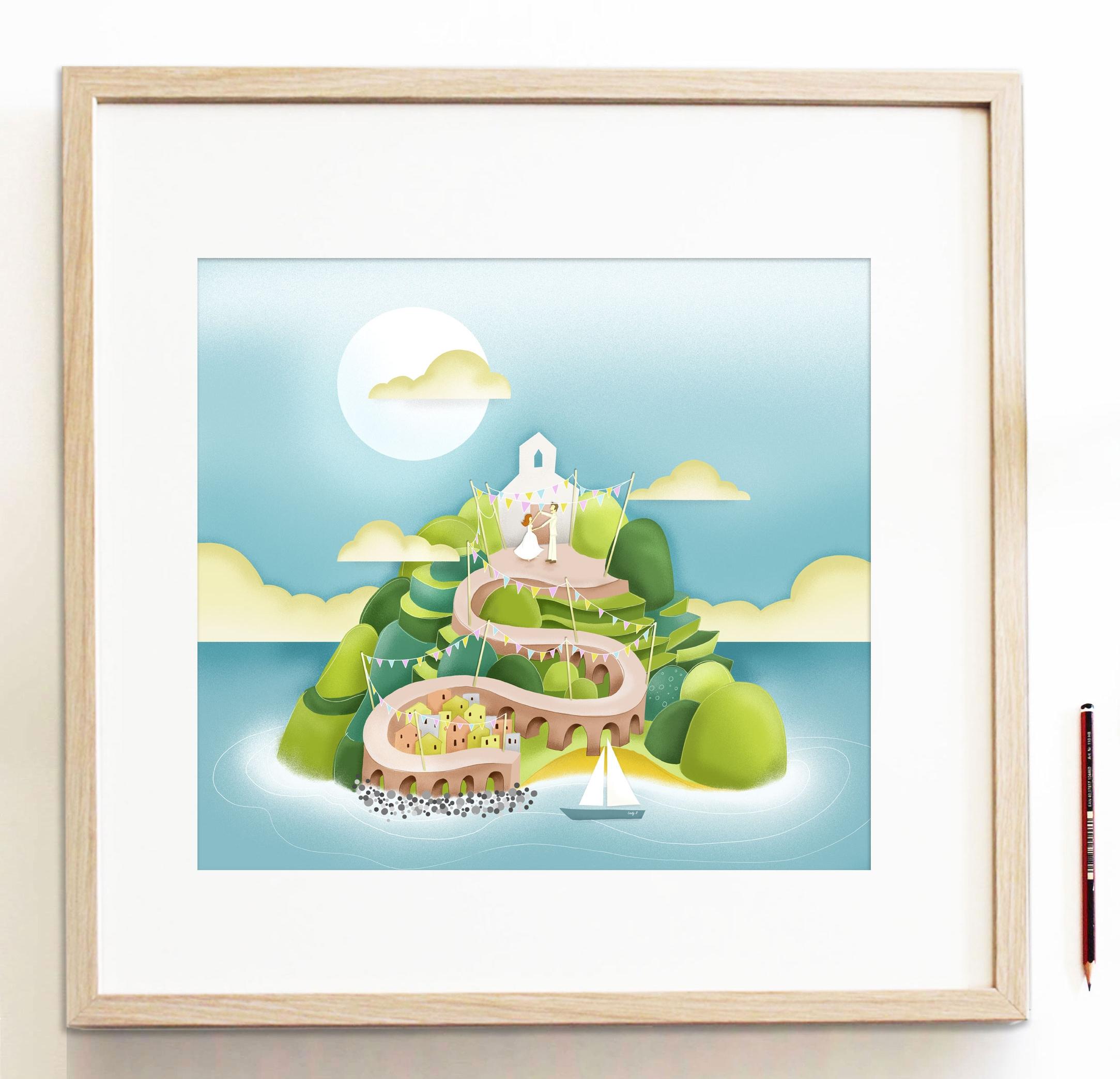 Reddin-designs-itialian-wedding-framed-illustration.jpg