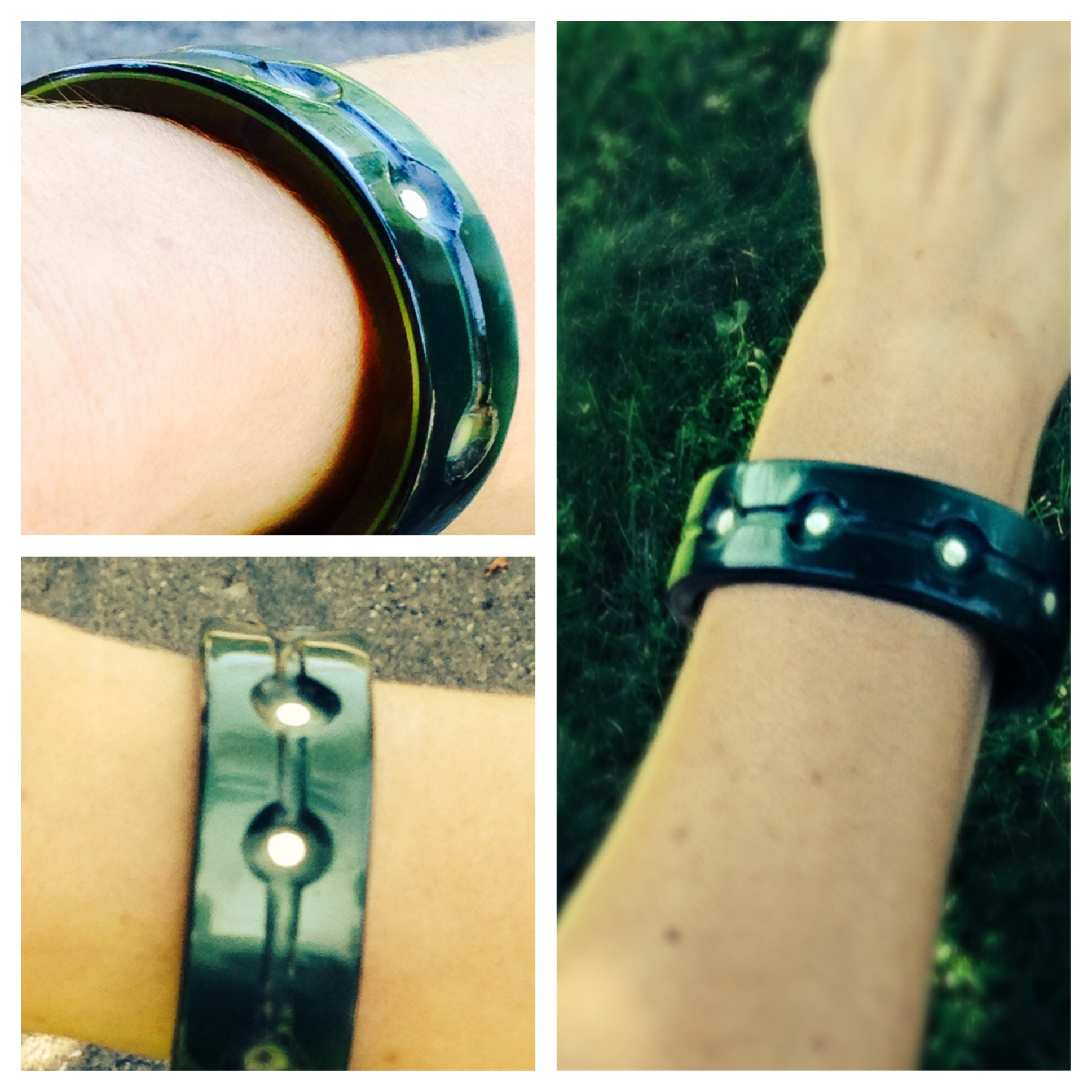 Thanks to Gael Levin For her exquisite modeling of her new Cellulose Acetate Bracelet!