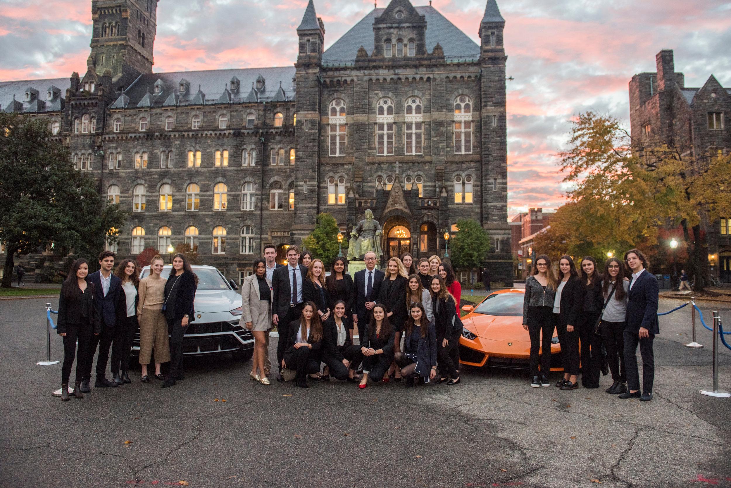 Pictured: GRLA Team and Alessandro Farmeschi, CEO Lamborghini America