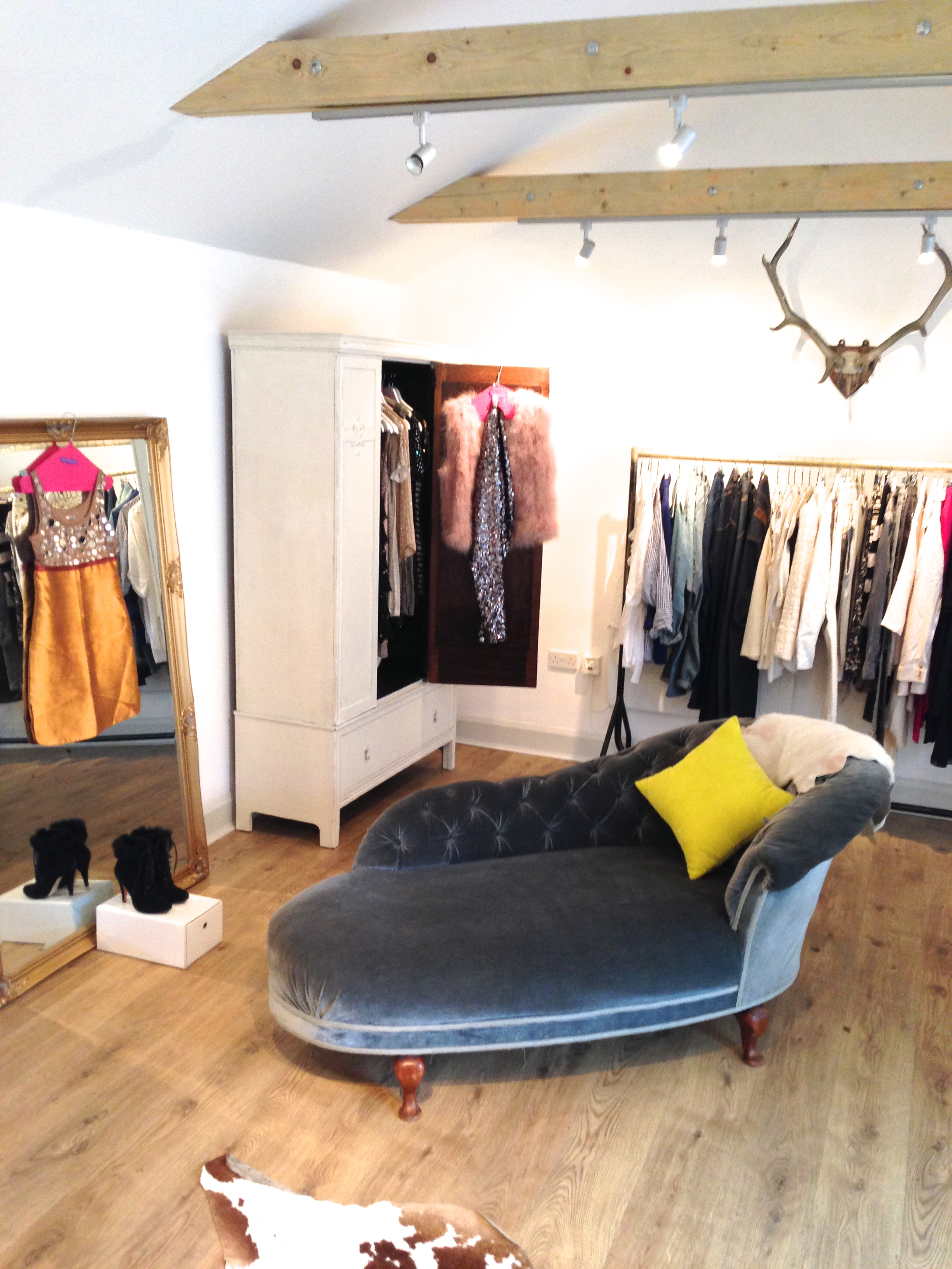 The style studio full of surprises and accessories to experiment with.  Some garments are available to buy, All can be hired for a cost % of the retail price for 4 days or 8 days.