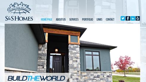 S&S Homes Website