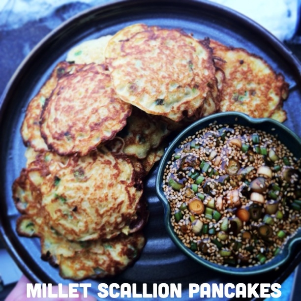 millet scallion pancakes