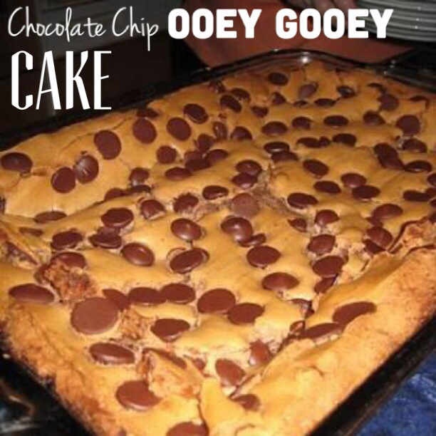Paula Dean's Chocolate Chip Ooey Gooey Cake