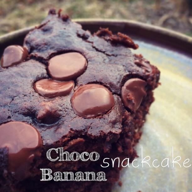 choco banana snackcake
