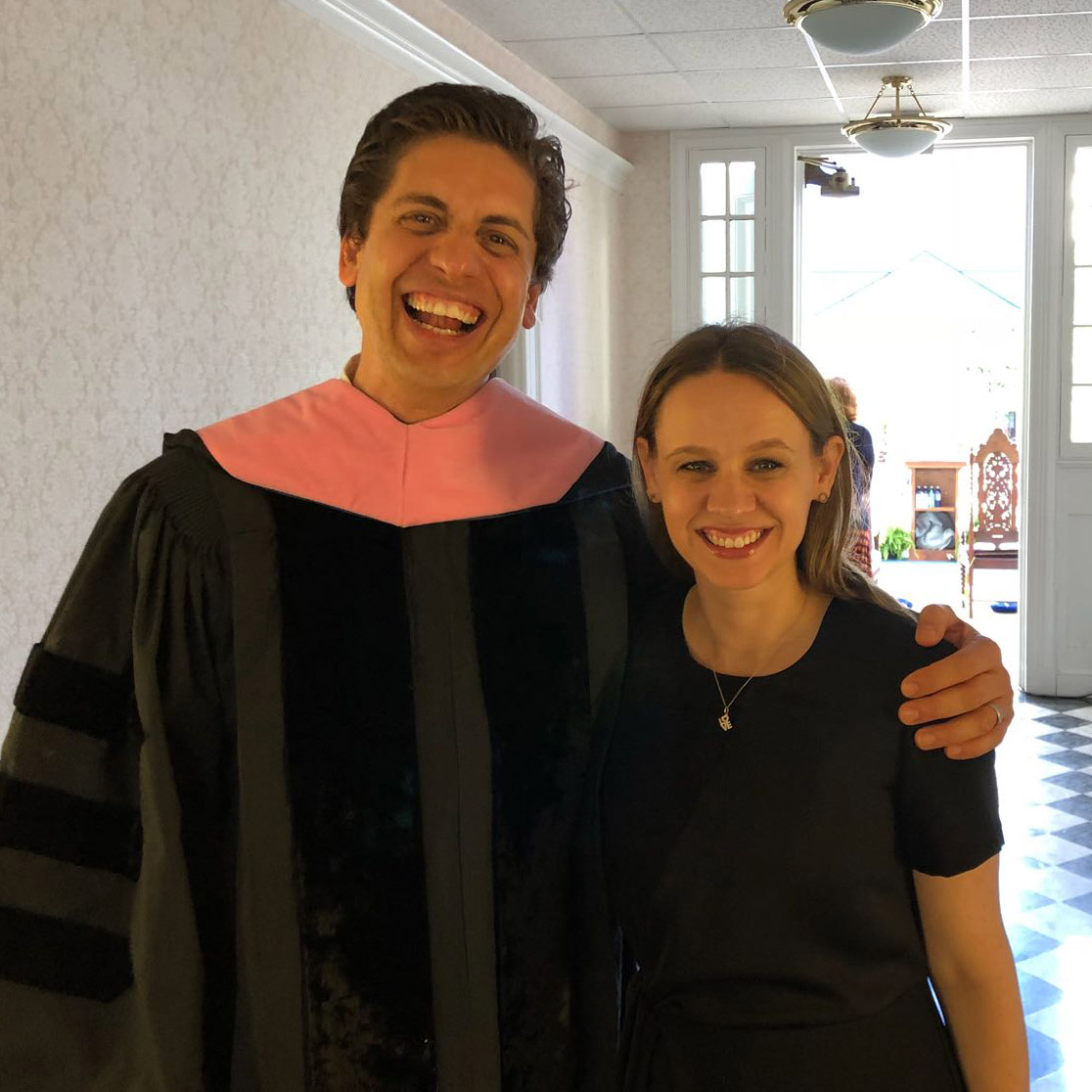 Francisco and Elizabeth Núñez celebrate his being presented with an Honorary Doctor of Music degree from Gettysburg College