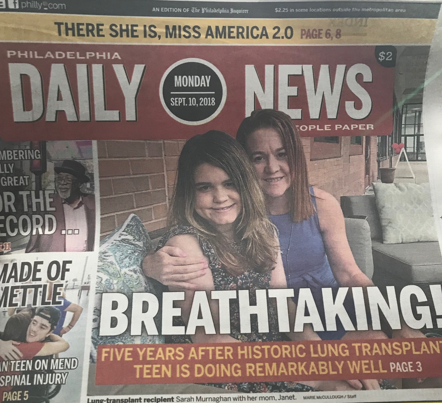 NYC & Philly tour - In one week, the amazing Murnaghan duo hit NYC and Philly to appear on Fox and Friends; Good Morning America; the front page of the Philadelphia Inquirer and Daily News; KYW News Radio, and Fox 29.