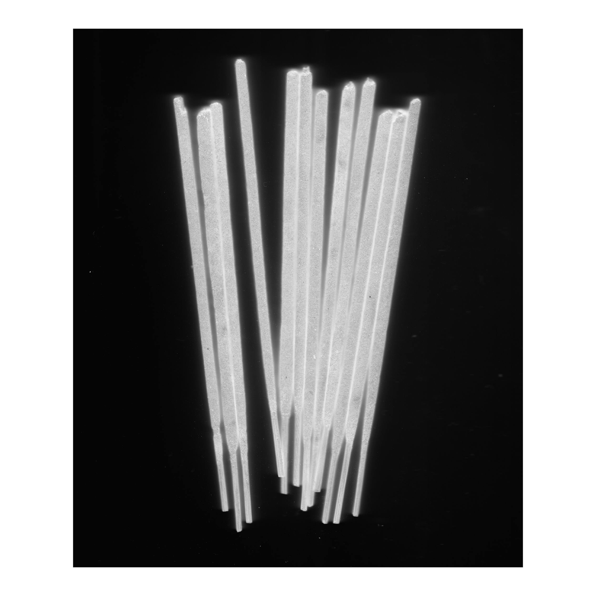 Fikuru 2.0 Incense sticks scanned with a digital flatbed scanner (2014)