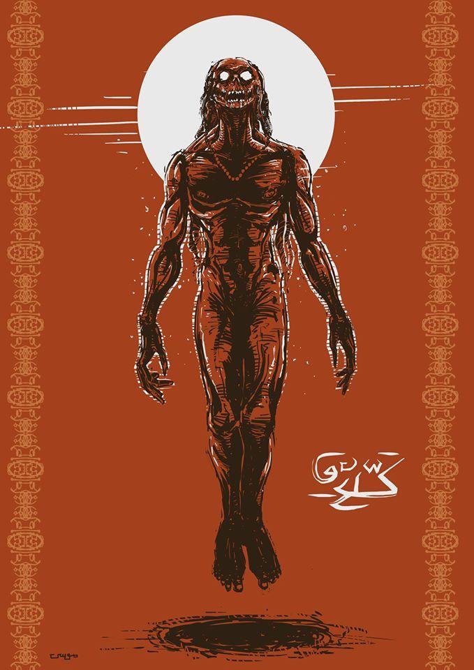"Kaddevi Digital art of the series ""Asura's Isle"""