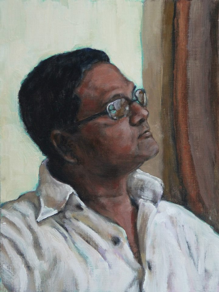 Bappa (Dad) Oil on Canvas Paper