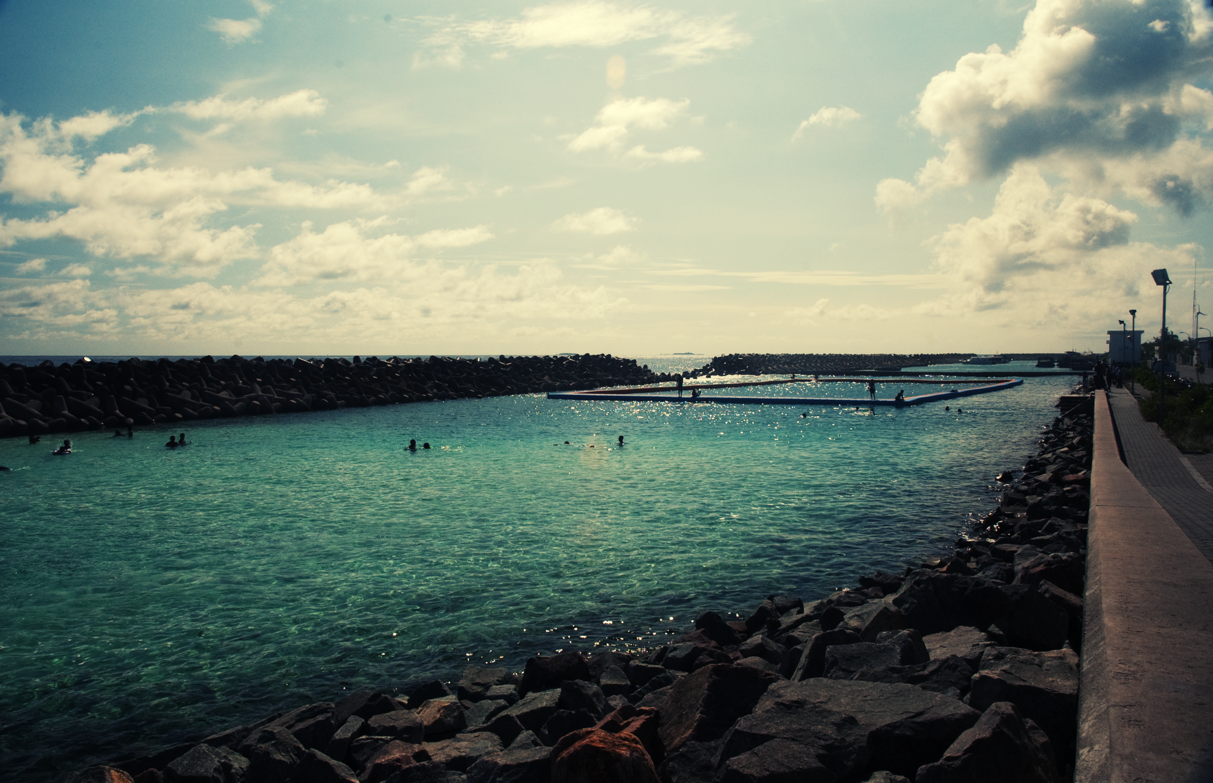 The Male' City Swimming Track. Nikon D70s  (2009)