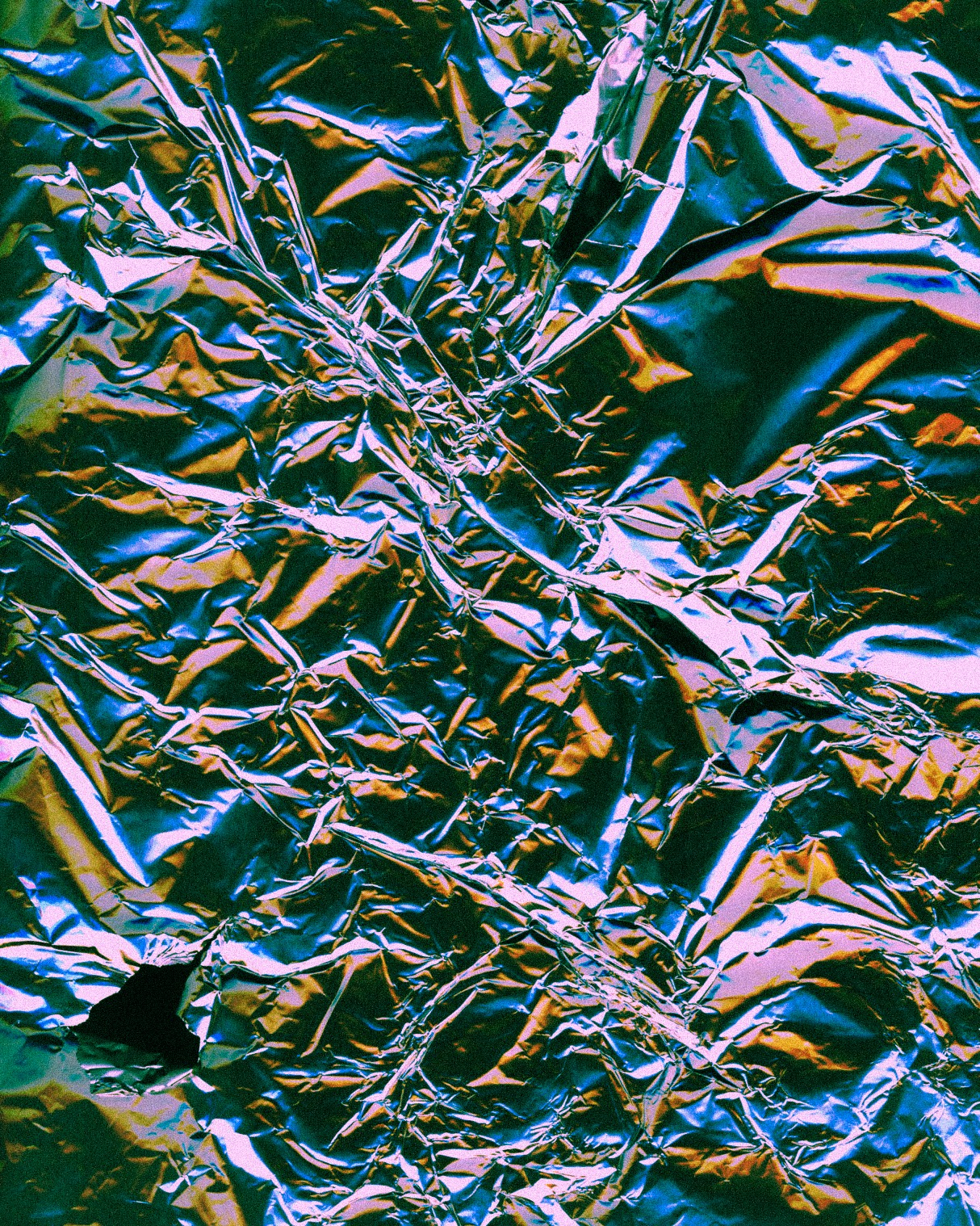 Aluminium foil scanned with digital flatbed scanner.  (2018)