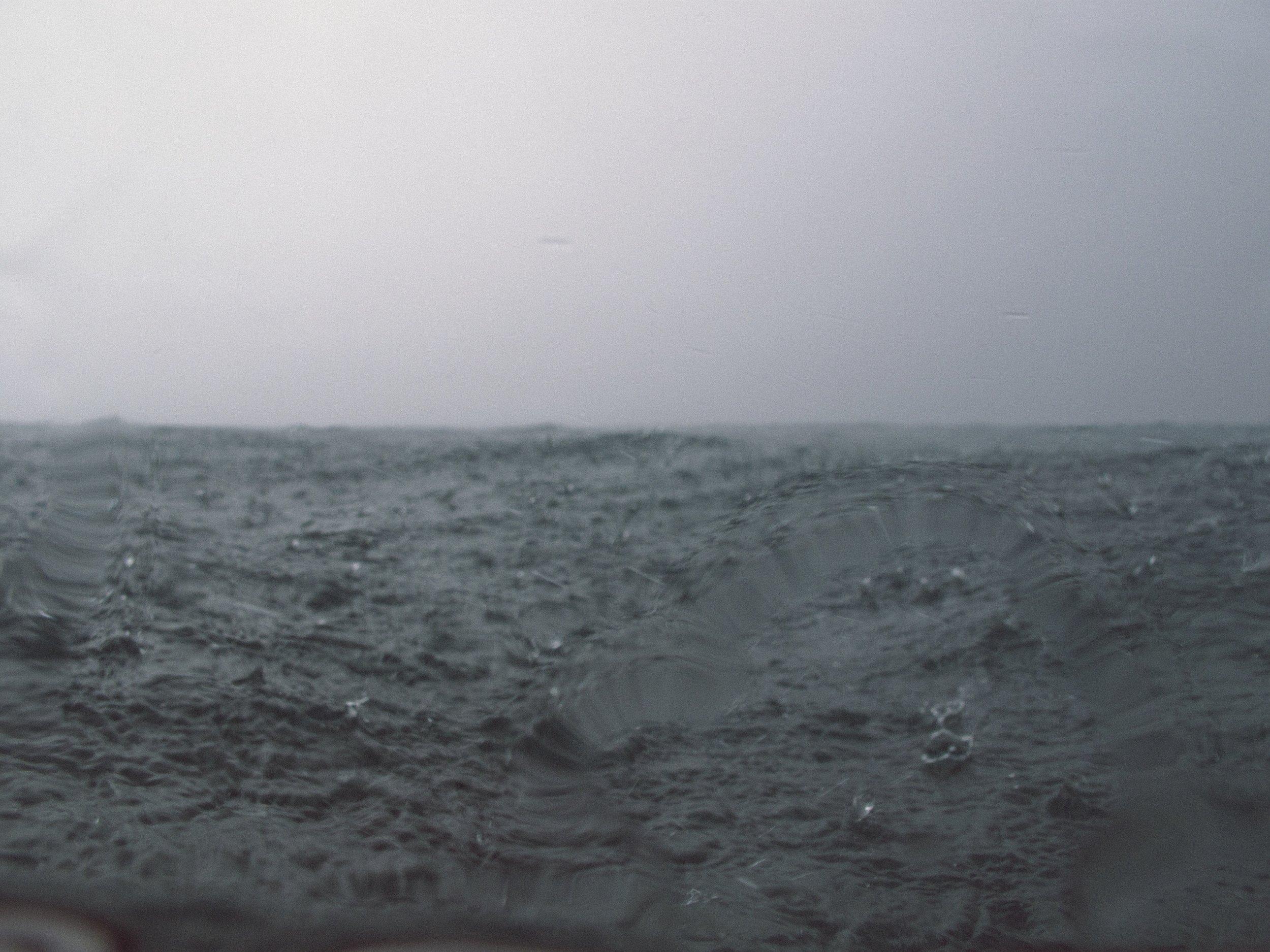 Warm tropical rain.  Canon G10.  Maldives. (2009)