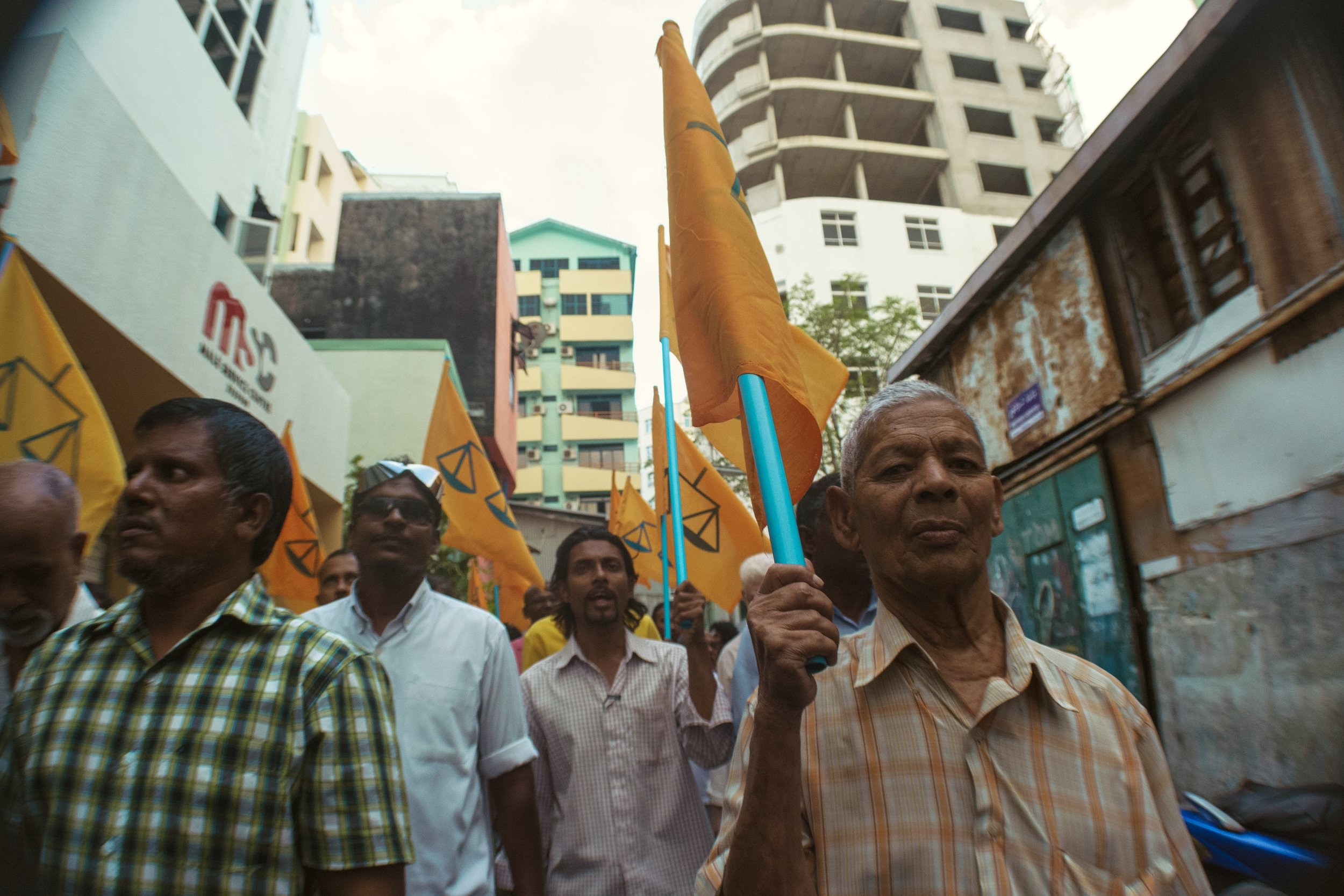 From an MDP led protest against the 2012 coup. Malé, Maldives. | Nikon D3100. | (2013)