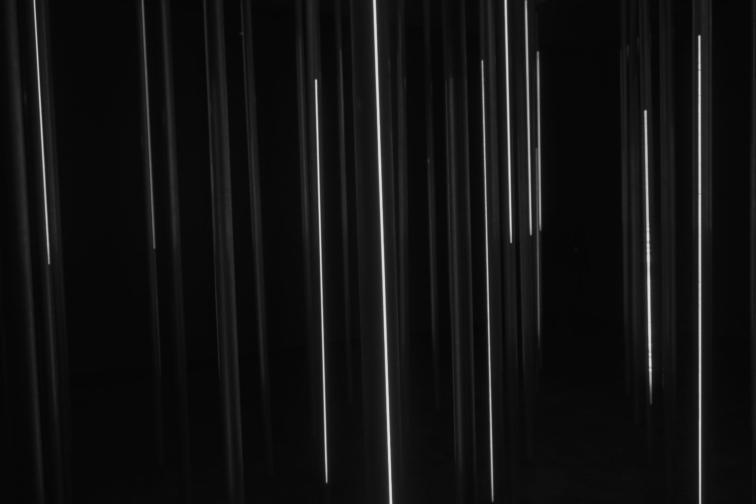 Lichtregen (Light Rain, (1966; recreated in 2018) Günther Uecker