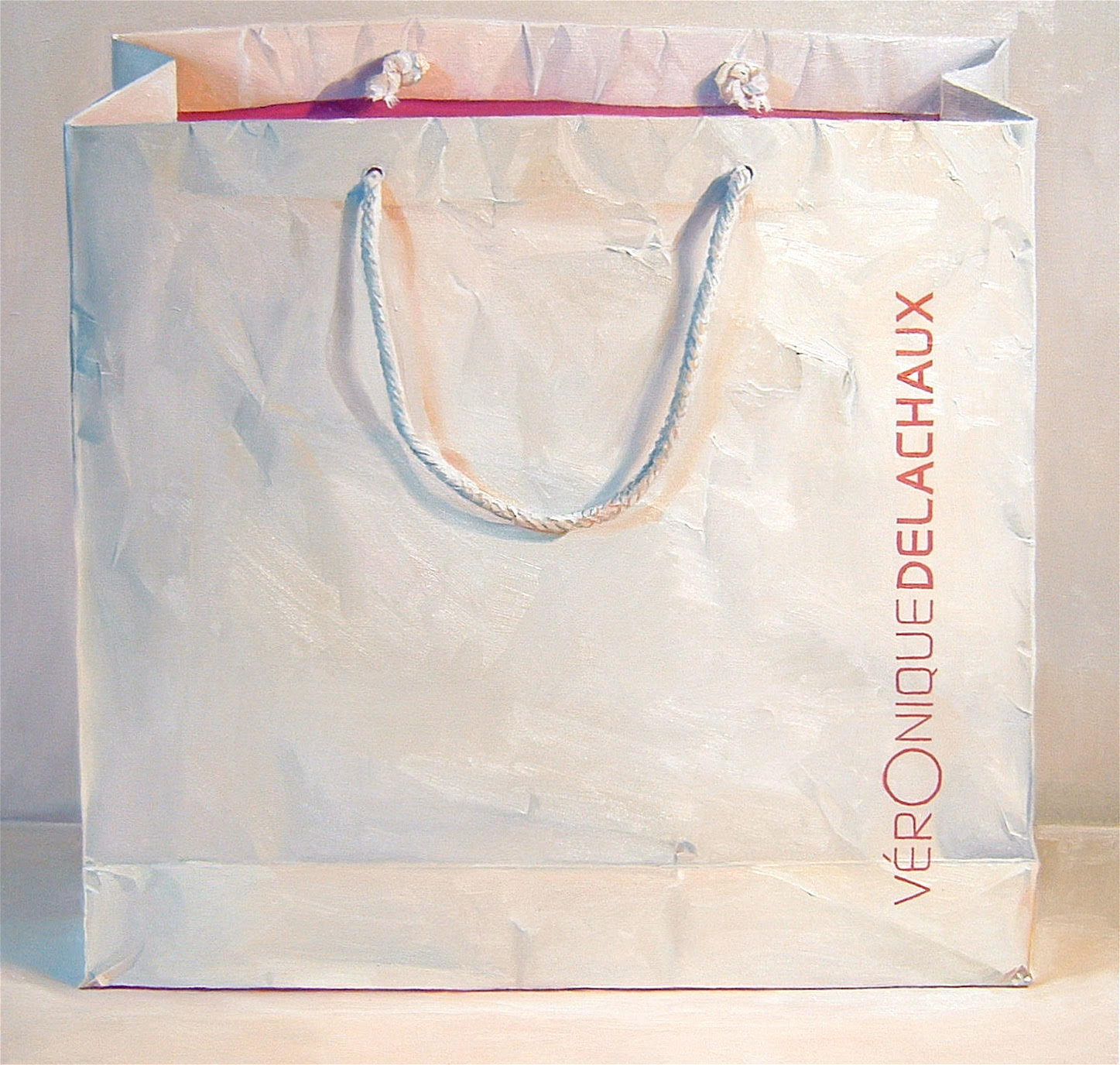 White Bag, oil on canvas, 43 x 43 in