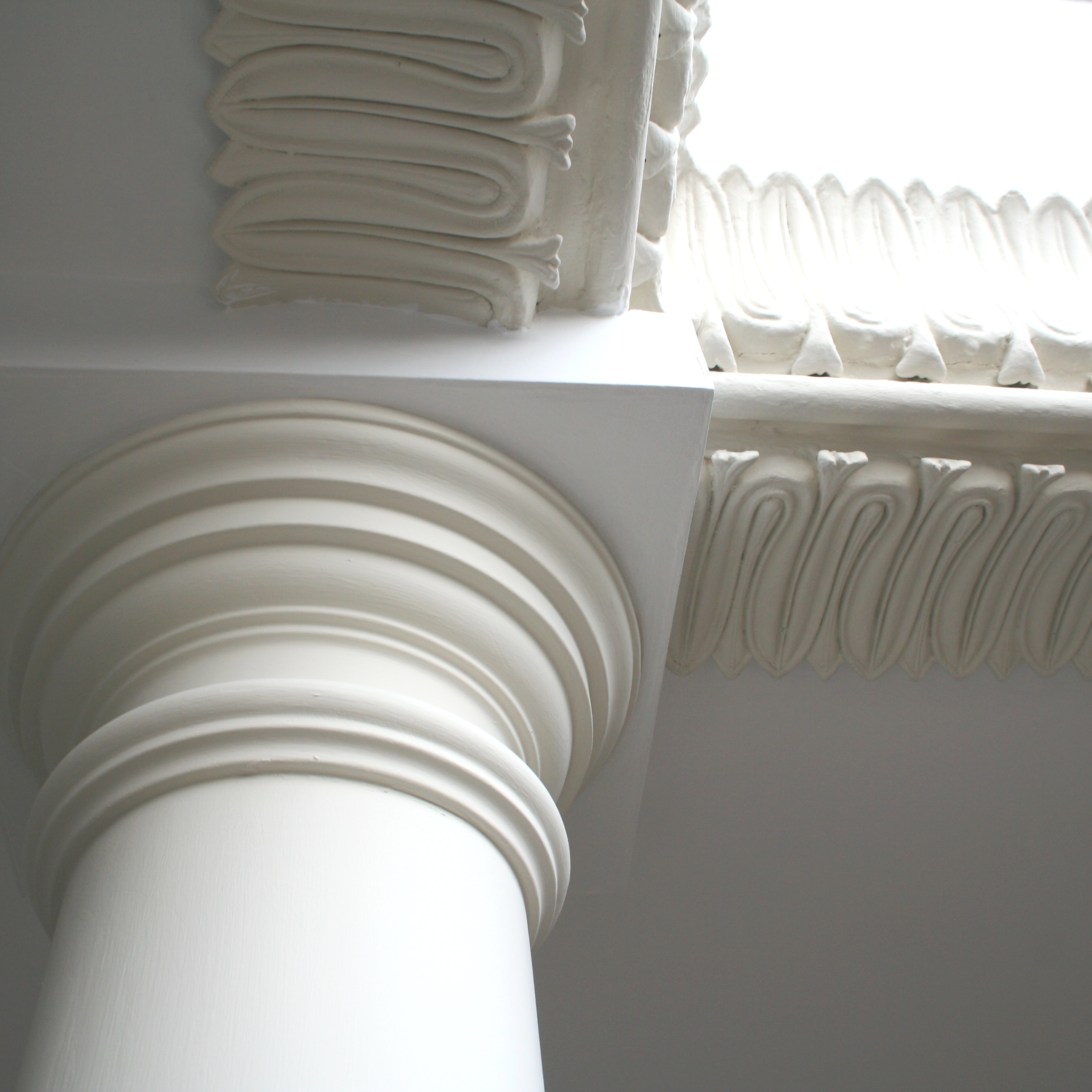 Restoration of original plaster ceiling