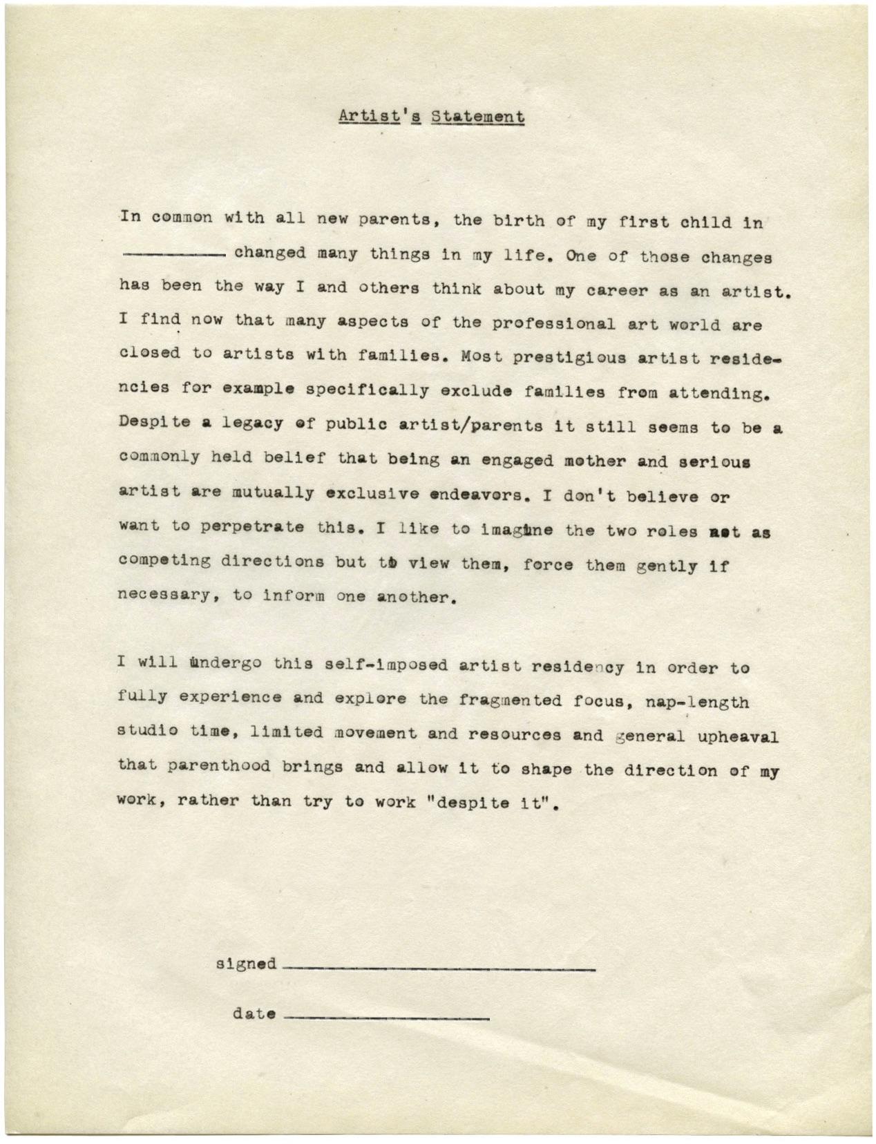 Fig. 1.  Typed ARIM Manifesto  (no date)