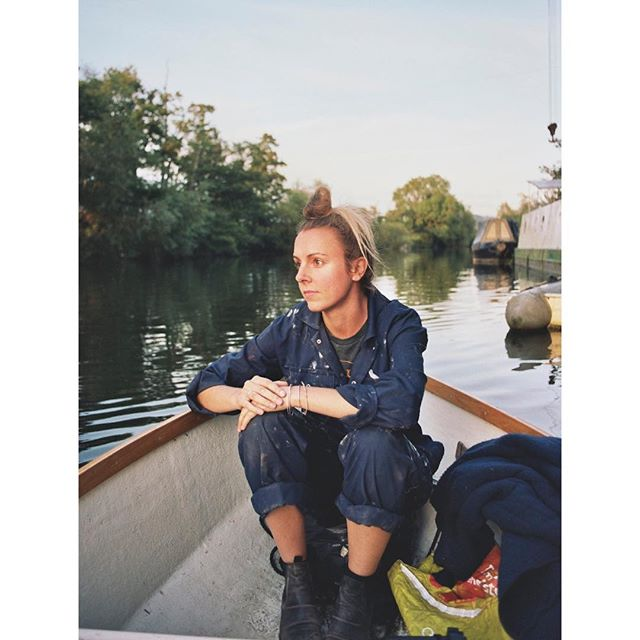 Off to the pub after a day of boat building 😘 #boat #boatlife #adventure #summer #35mm #analogue #filmphotography #filmisnotdead #portrait #river #kodak