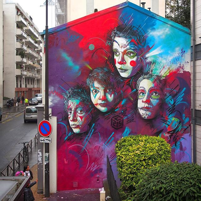 New mural mapped on Outwallz. You can see it here: 169 Rue Pelleport, 75020 Paris, France. ✖️ By the great Artist: C215 ✖️ I Love this one very much, the colors are awesome. @christianguemy  #streetart #mural #wall #fresque #c215 #urban #street #art #spraycan #streetartphotography #graffiti #graffitiart #paris #child#blue#graphic#illustration#stencil#painting#rues#75020#peinture