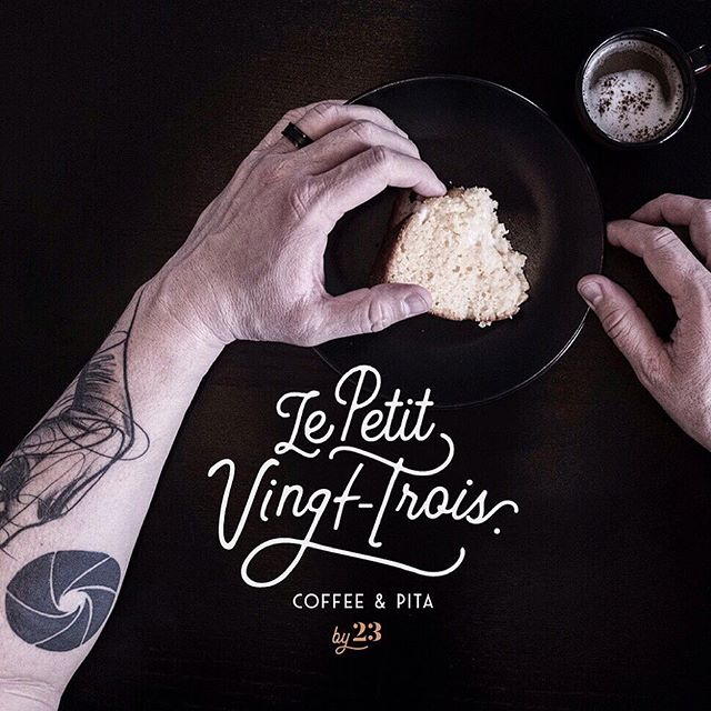 Logo design I did 2 months ago for Le Petit Vingt-Trois, a brand new place in Geneva. The little brother of @bistrot23 !  #branding #logo #logotype #logoinspiration #brandidentity #graphicdesign #logotypes #coffee #barista #vectorart #lettering #streetfood #urbanlife #foodporn #letteringart #tattolife #espressobar #lettrage