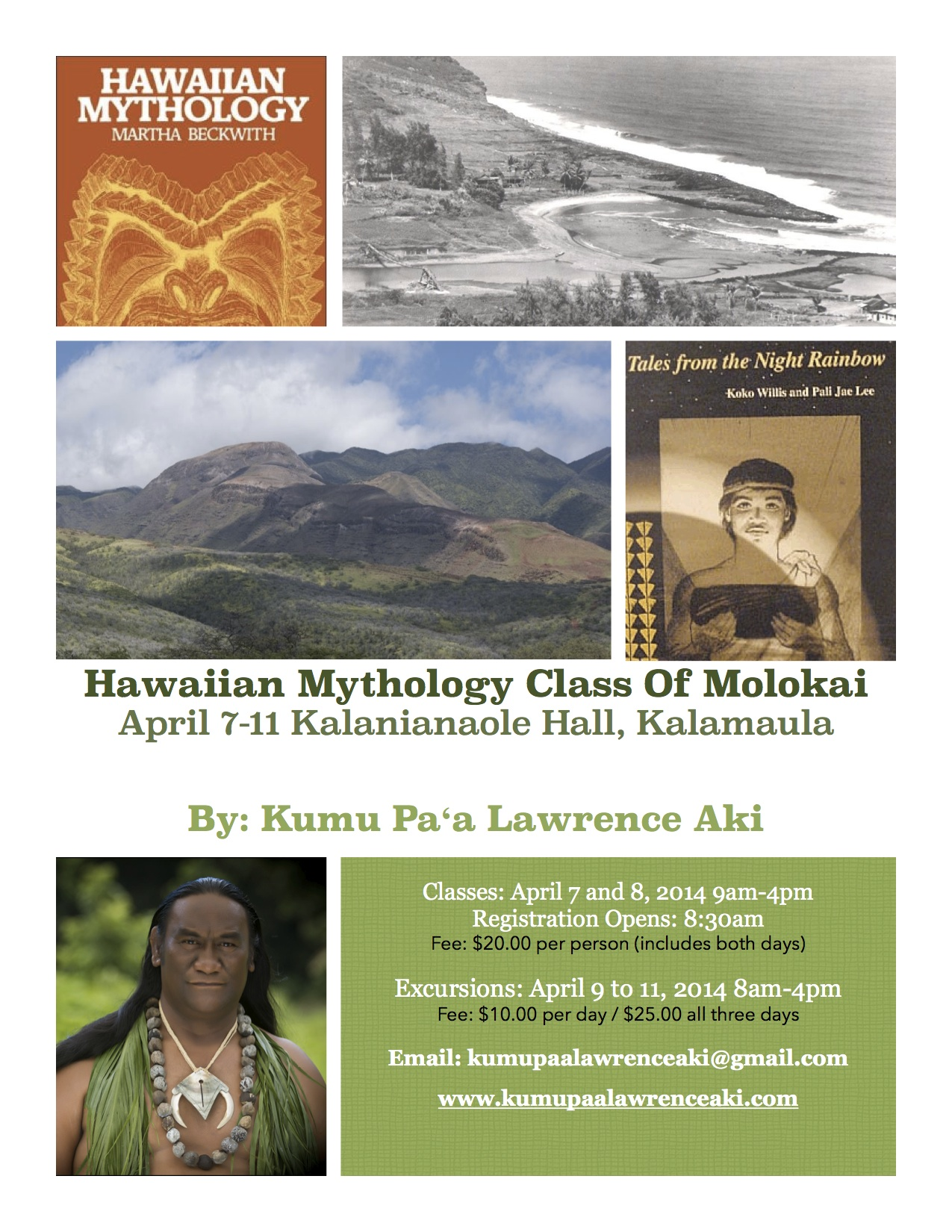 Flyer Hawaiian Mythology Class April 7-11