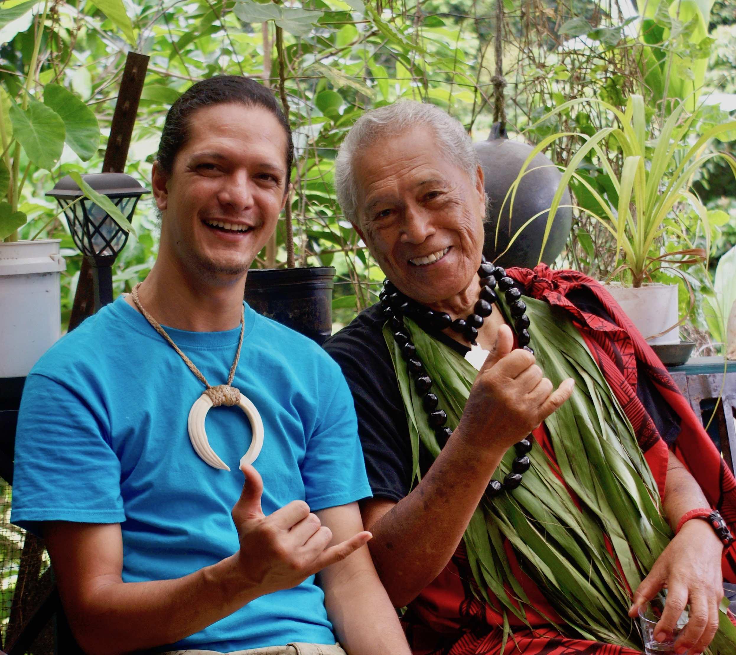 49th Generation Anakala Pilipo Solatorio & 51st generation Kumu Paʻa Kawika Foster of Mana O Kahiko