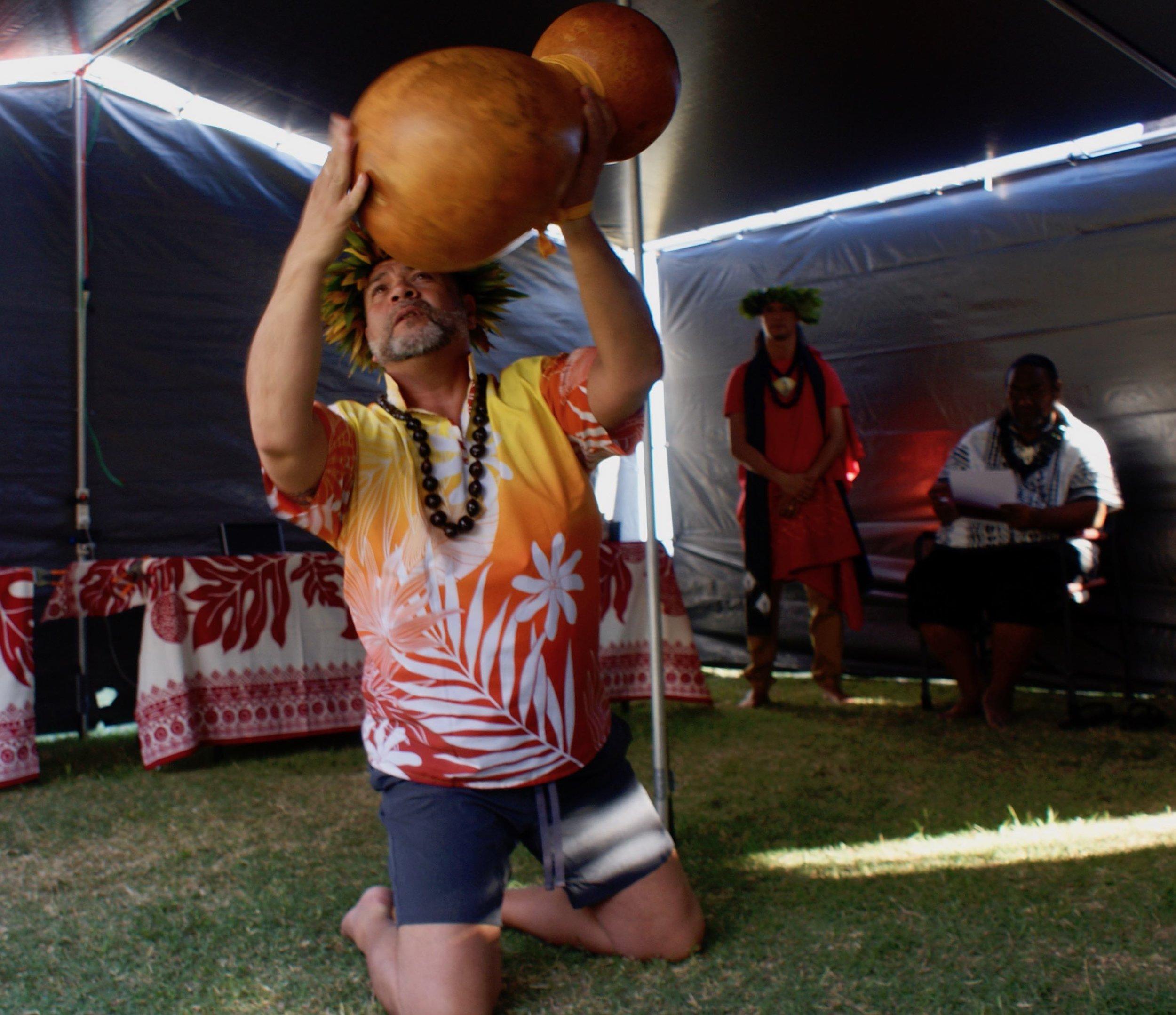 Kumu Harry hula ipu opening ceremony.jpg