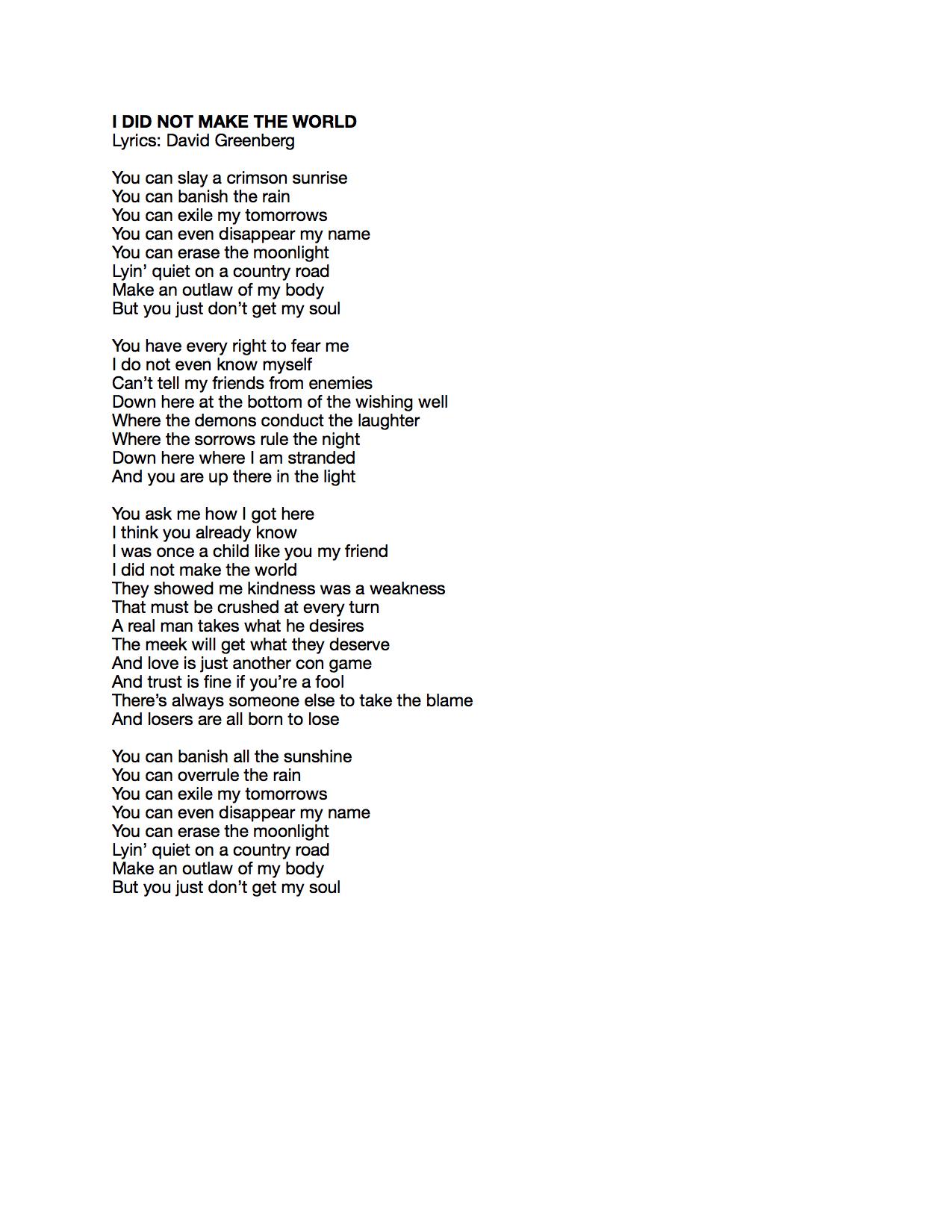 I Did Not Make the World Lyrics.jpeg