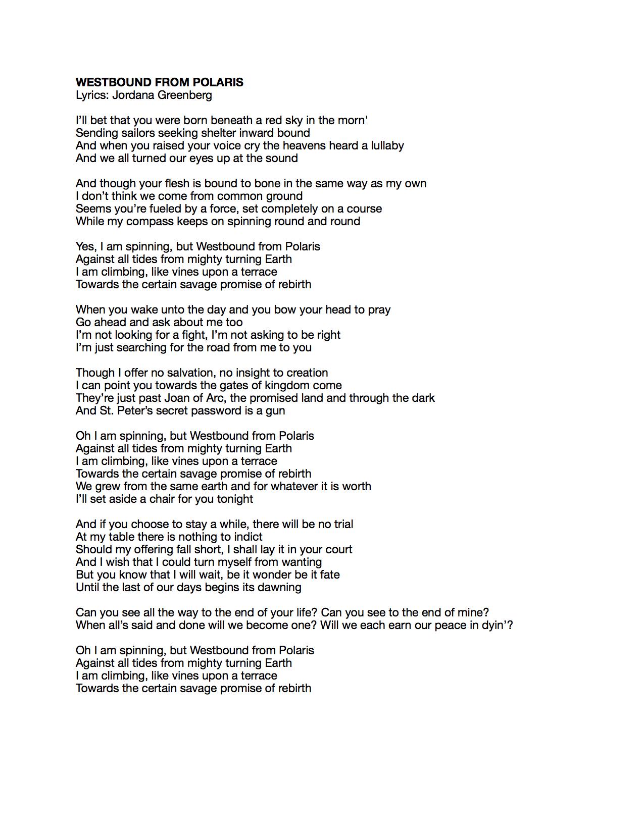 Westbound from Polaris Lyrics.jpeg