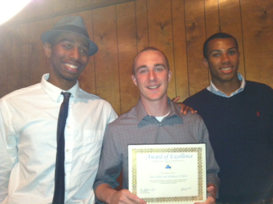 Brandon, Alec, and Julian with our 1st award