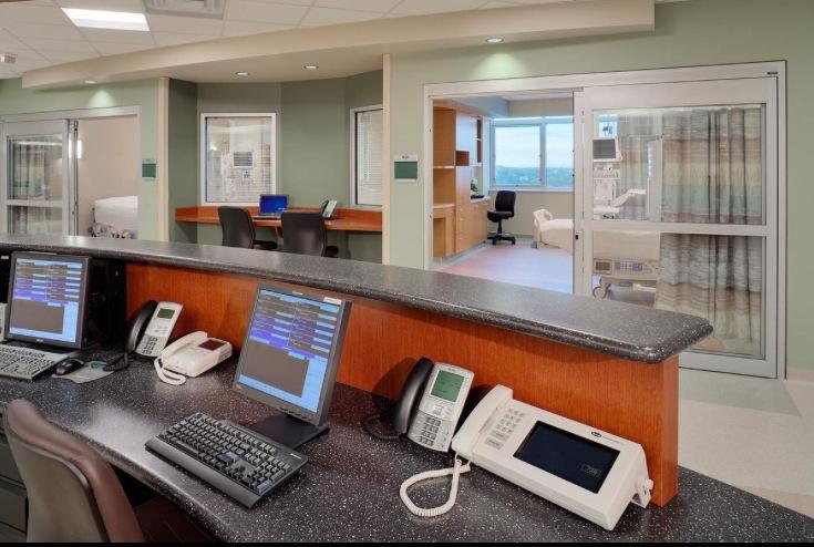 NTICU Nurse Station Viewing Trauma Patient Room