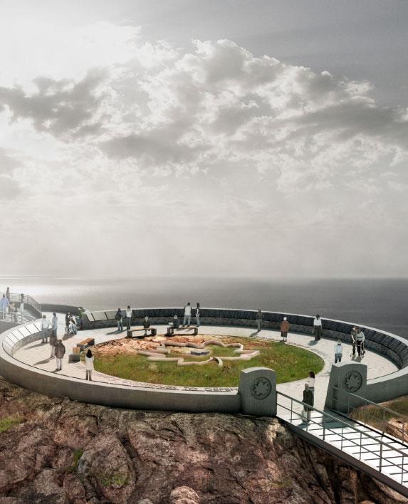 NEVER FORGOTTEN MEMORIAL    Landscape Architecture   Cape Breton, ON, Canada