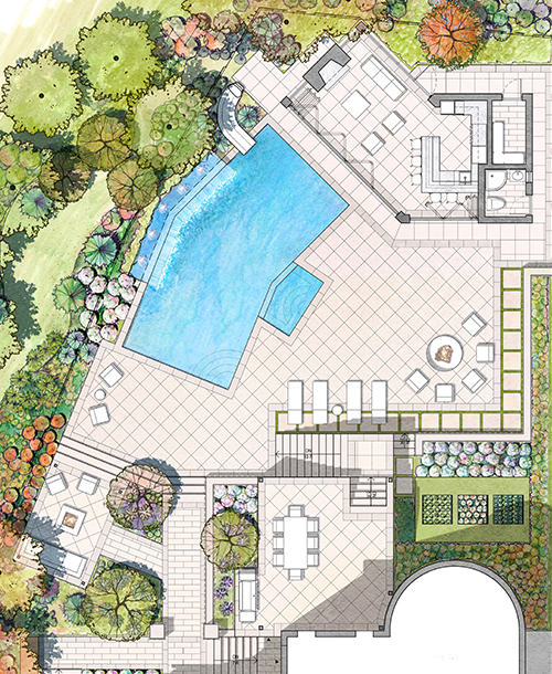 RICHMOND HILL OASIS    Flexible Space / Water Feature / Pool / Pool house / Terrace  Richmond Hill, ON, Canada
