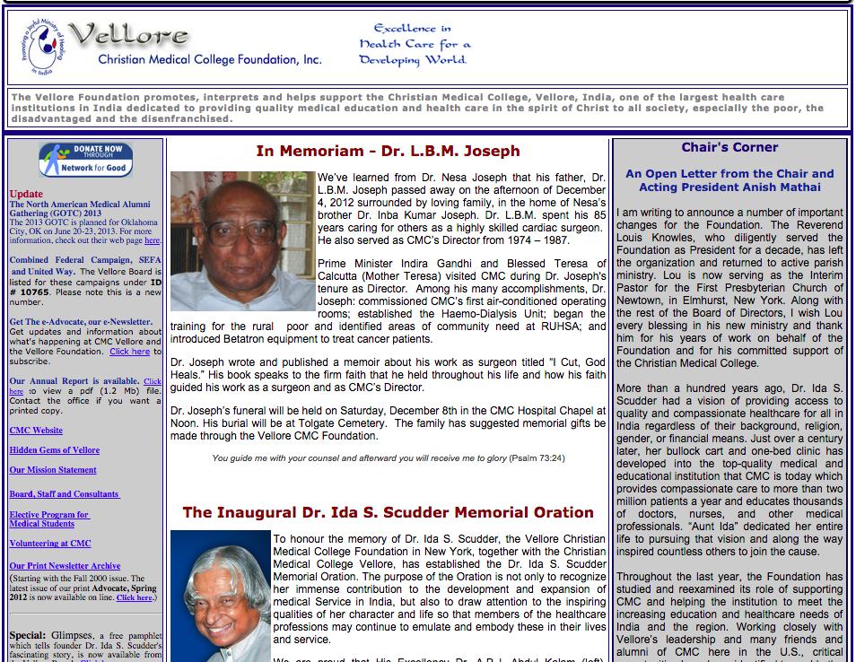 BEFORE:  Vellore CMC Foundation  Homepage