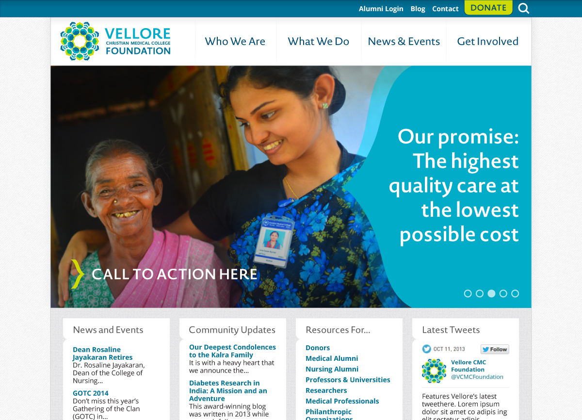 AFTER:  NEW   Vellore CMC Foundation Homepage