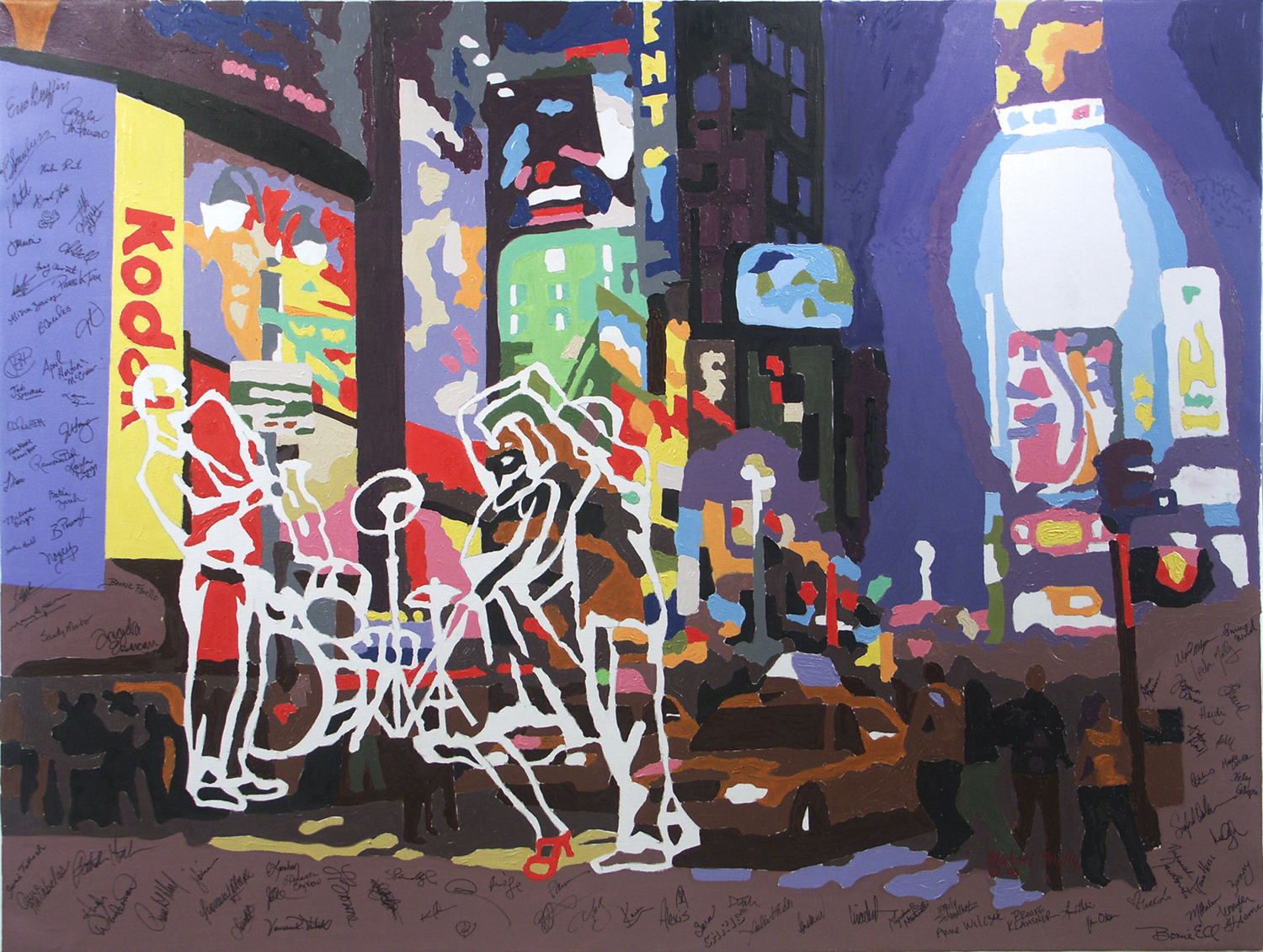 """New York The Events Town 50"""" X 66"""""""