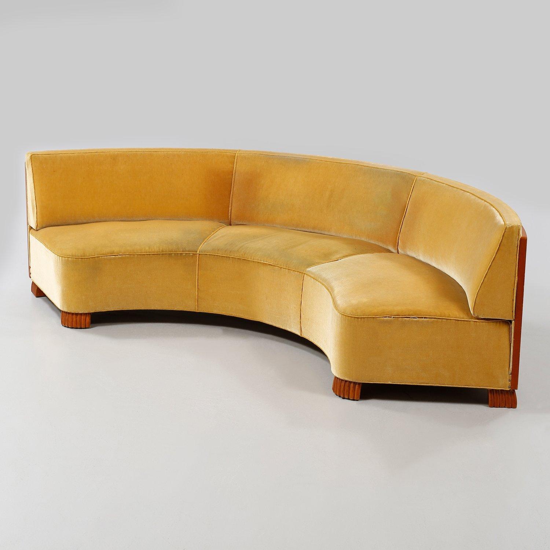 Large curved sofa, Oscar Nilsson, 1930-1940´s. — Karlsson ...