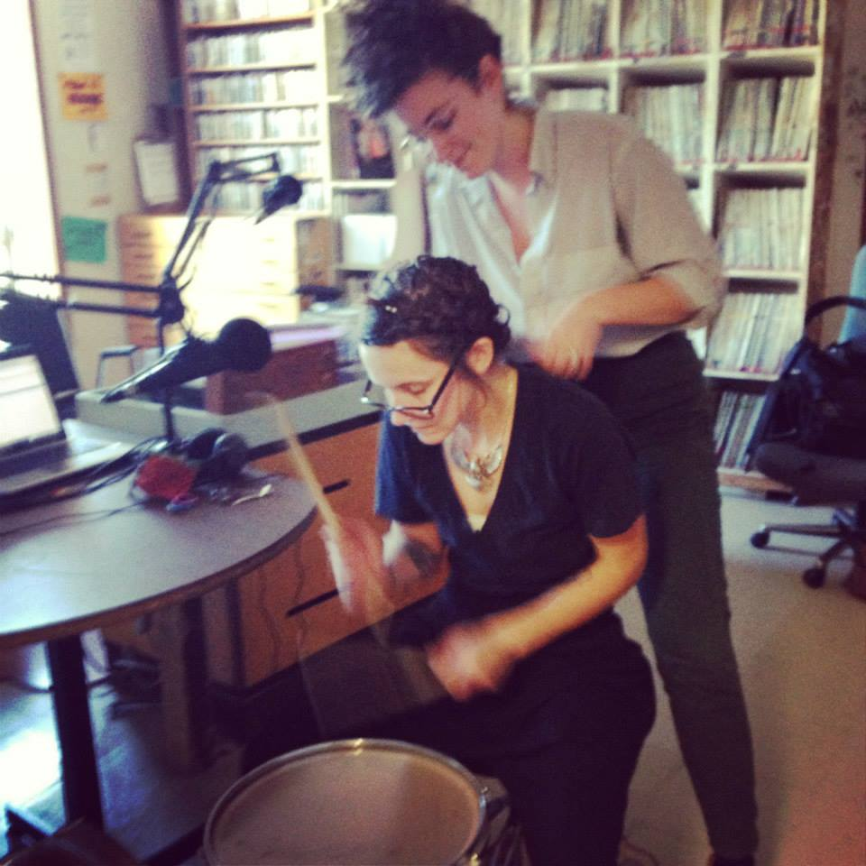 This is me live-braiding art-drummer Frankie Frankie as she works out a rhythm!