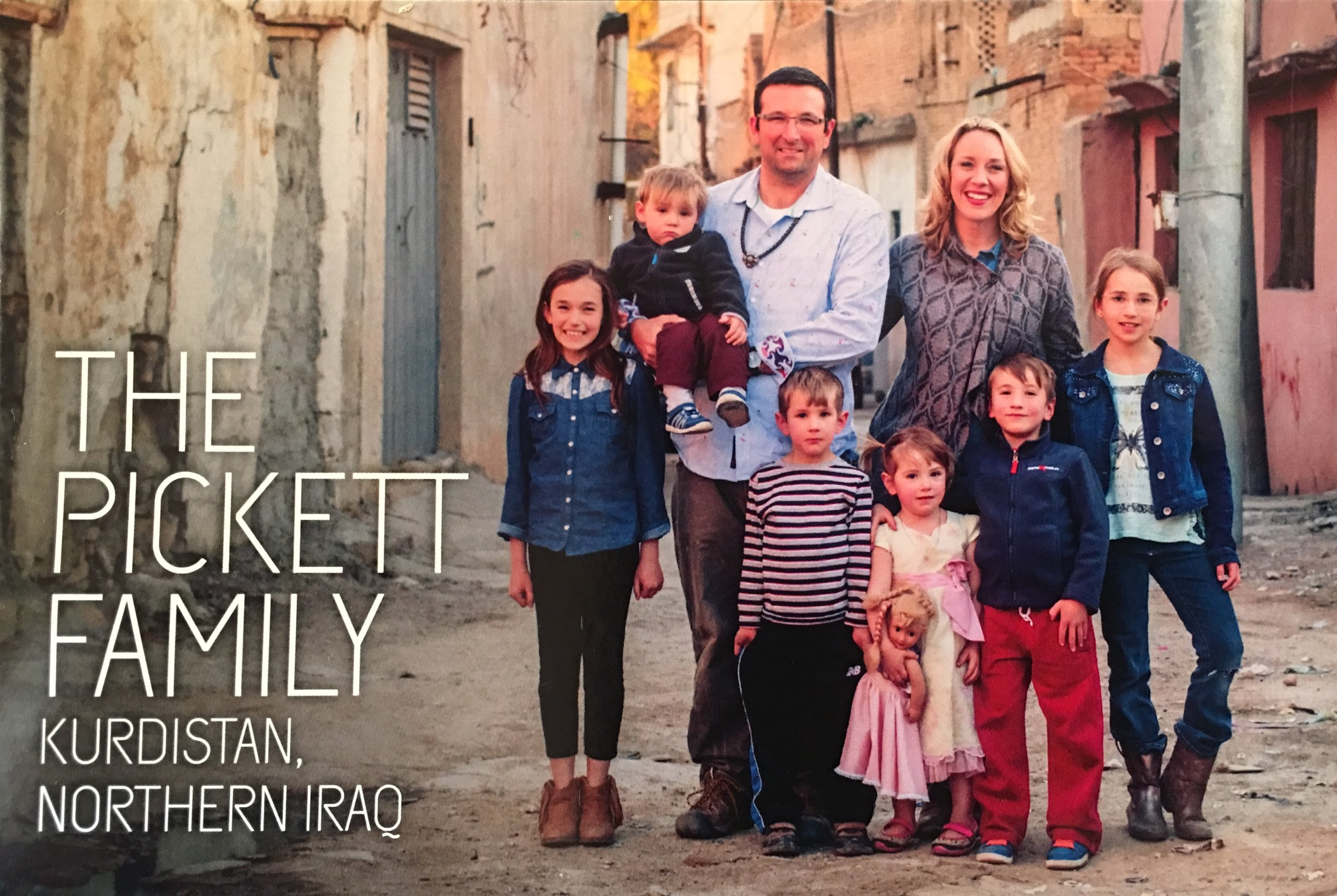 The Pickett Family, springtime in Iraq