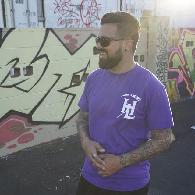 "HL ""SEARCH & DESTROY"" T. Available now at: LIVINGTHEHOTLIFE.COM 💥 #style #design #graffiti #streetart #purple #HOTLIFE #independent #streetweae #clothingbrand #brand #model #florida"