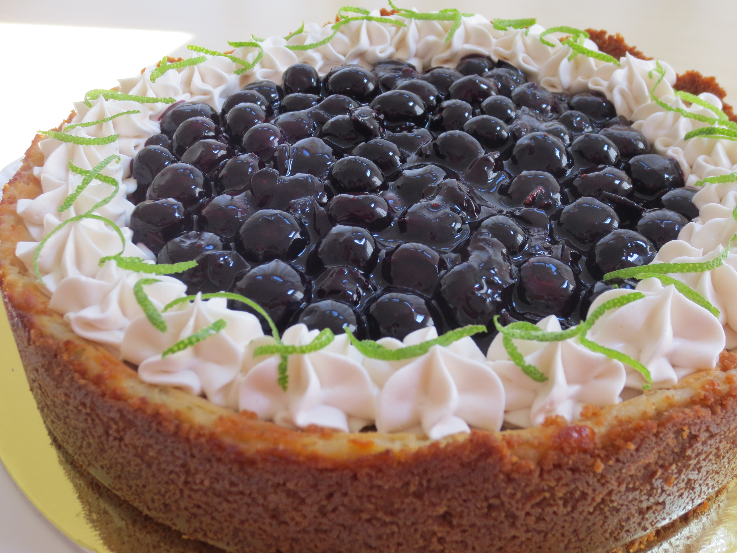 Vegan Blueberry Lime Cheesecake made for a challenge taker