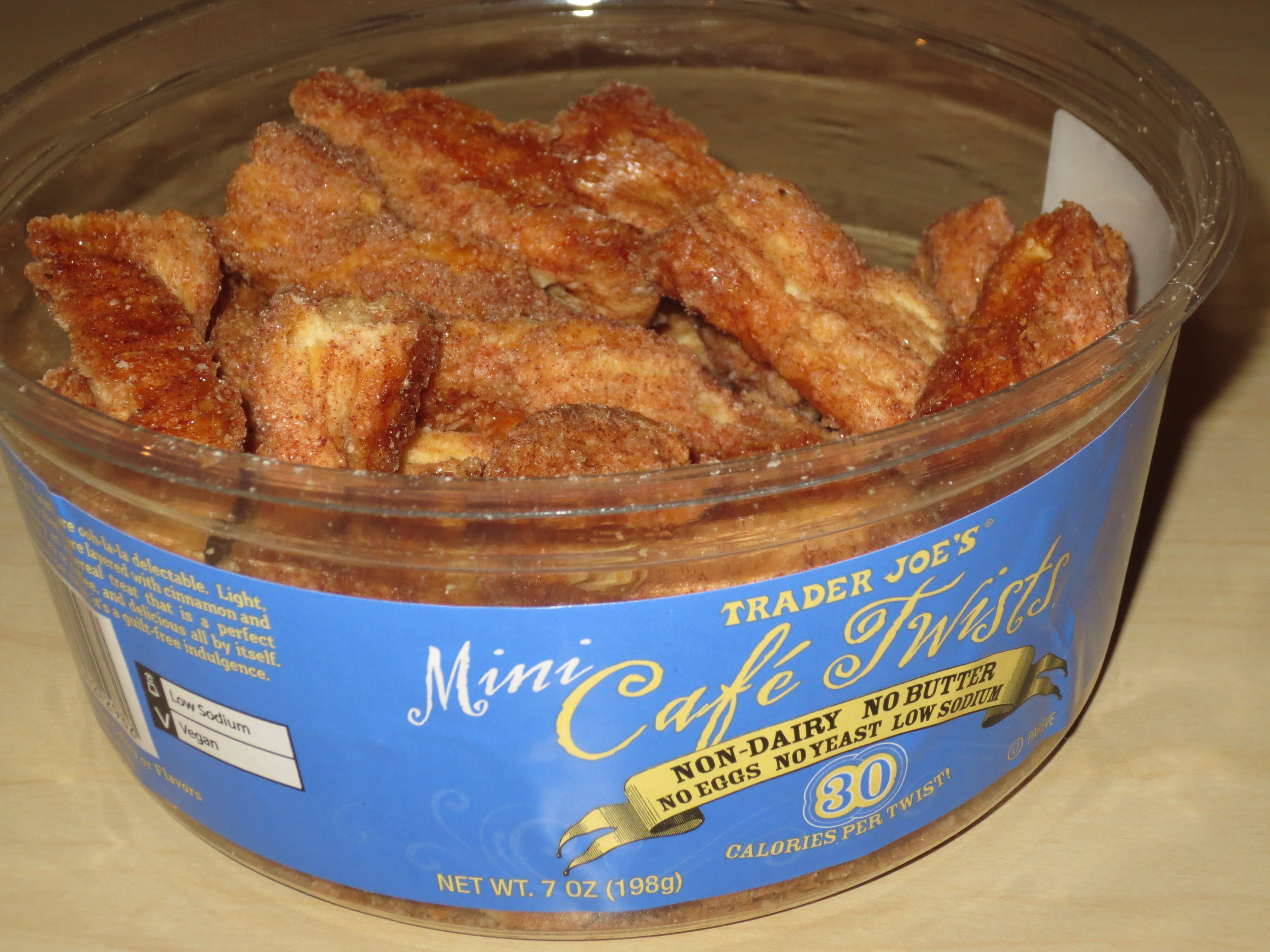 Mini Cinnamon Cafe Twists: $2.29 per 7 oz. tub (as of Nov 2013)  **shout out to my friend Tracey for telling me about these! :)