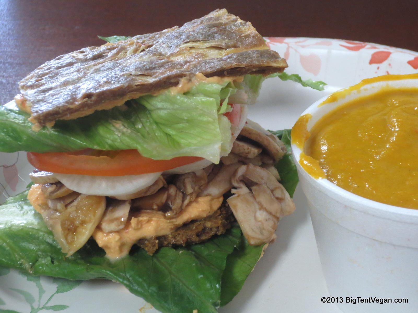 V'gos Raw Vegan Cheeseburger by Chef Tomas Zazycki of  Veggos  (Lake Forest, CA)