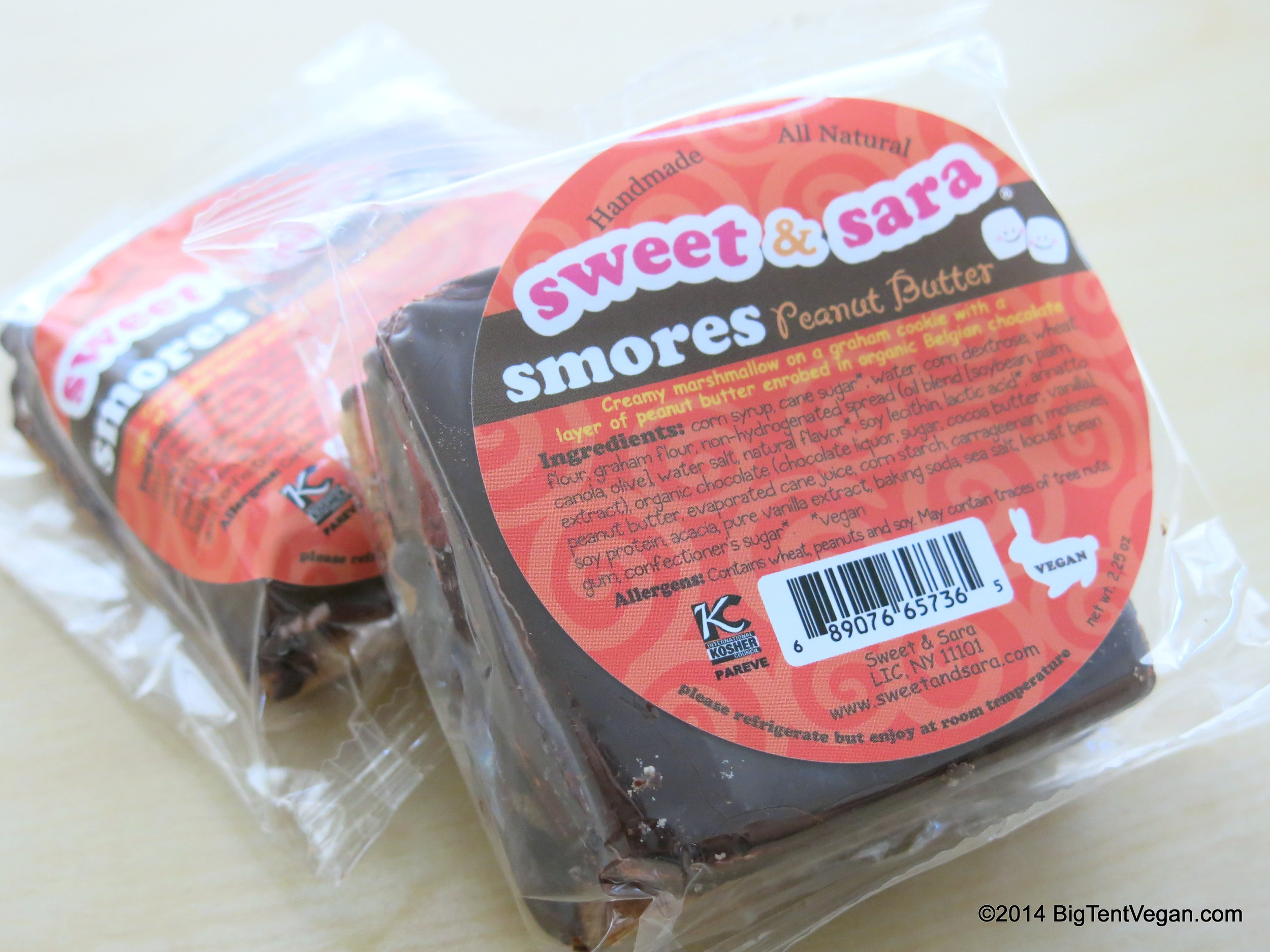 Vegan Peanut Butter S'mores by Sweet and Sara (100% vegan company)