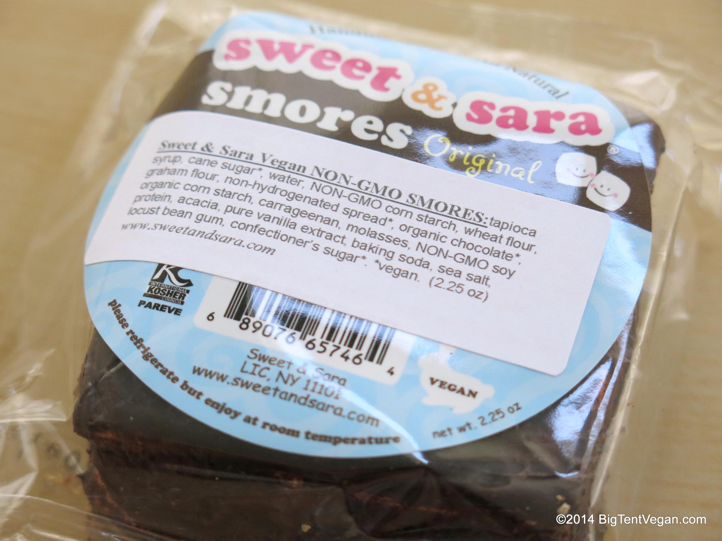 Vegan Original S'mores by Sweet and Sara (100% vegan company)
