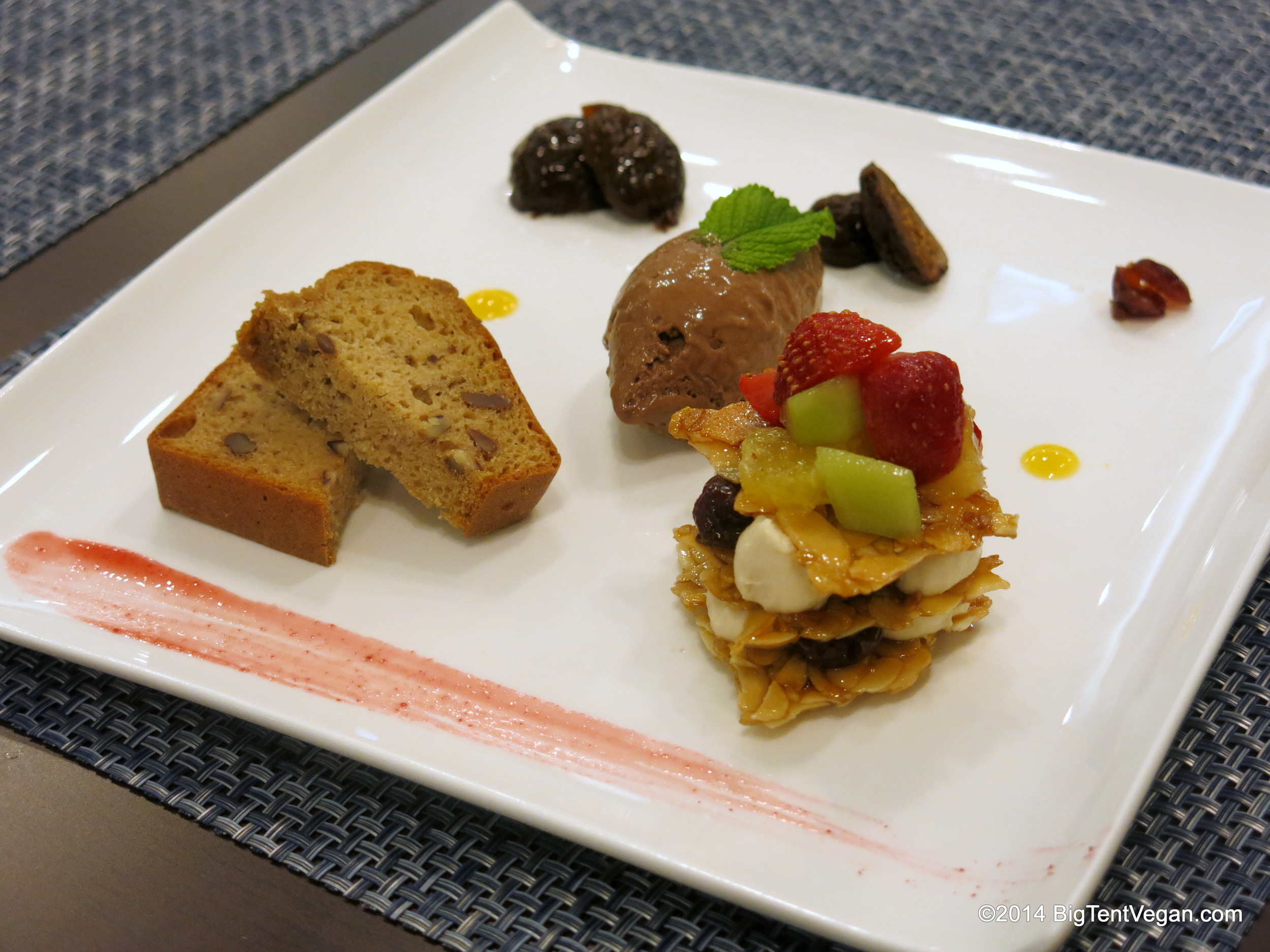 Assortment of Desserts and Fruits (part of set dinner menu)