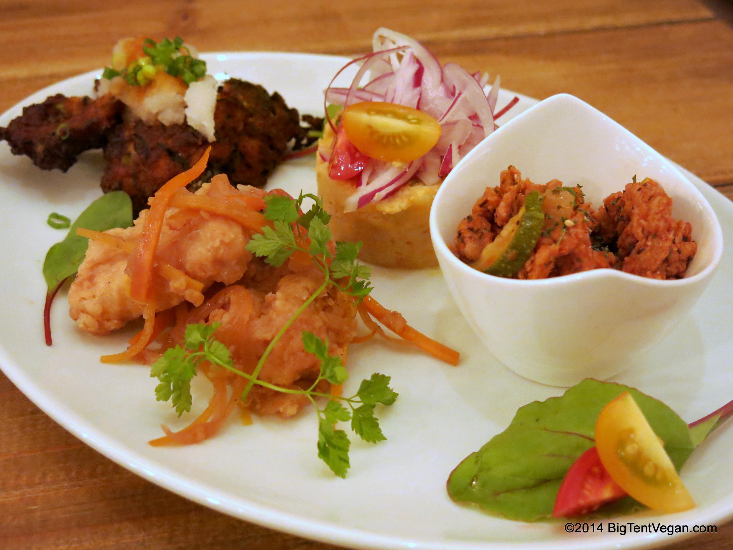 Chef's Appetizer Plate at 100% Vegan Restaurant Paprika Shokudo (Osaka, Japan)