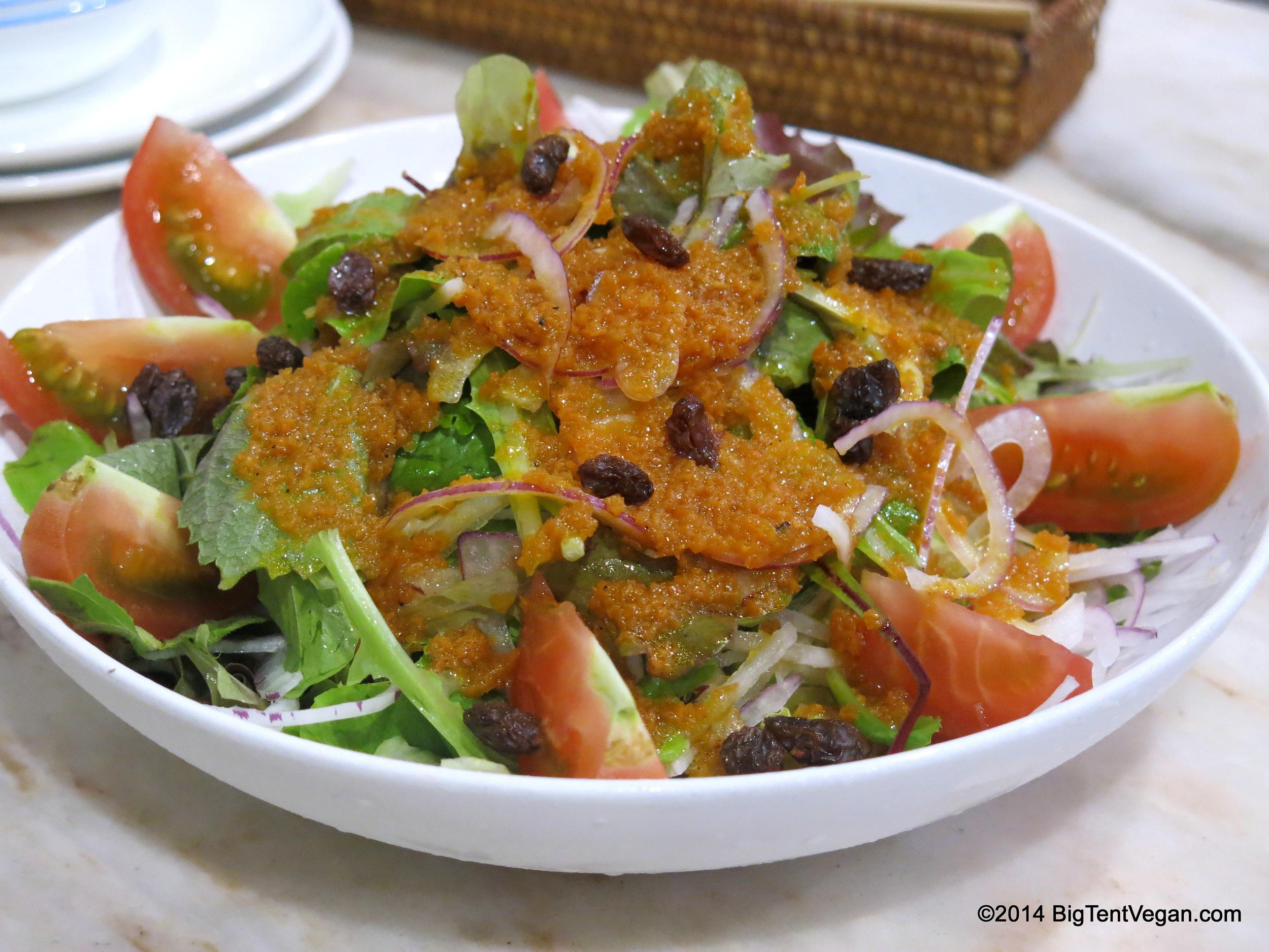 "Garden Salad from 100% Vegans Caf       12.00       é       Normal   0           false   false   false     EN-US   X-NONE   X-NONE                                        MicrosoftInternetExplorer4                                                                                                                                                                                                                                                                                                                                            /* Style Definitions */  table.MsoNormalTable {mso-style-name:""Table Normal""; mso-tstyle-rowband-size:0; mso-tstyle-colband-size:0; mso-style-noshow:yes; mso-style-priority:99; mso-style-qformat:yes; mso-style-parent:""""; mso-padding-alt:0in 5.4pt 0in 5.4pt; mso-para-margin-top:0in; mso-para-margin-right:0in; mso-para-margin-bottom:10.0pt; mso-para-margin-left:0in; line-height:115%; mso-pagination:widow-orphan; font-size:11.0pt; font-family:""Calibri"",""sans-serif""; mso-ascii-font-family:Calibri; mso-ascii-theme-font:minor-latin; mso-fareast-font-family:""Times New Roman""; mso-fareast-theme-font:minor-fareast; mso-hansi-font-family:Calibri; mso-hansi-theme-font:minor-latin;}     and Restaurant in Kyoto, Japan"