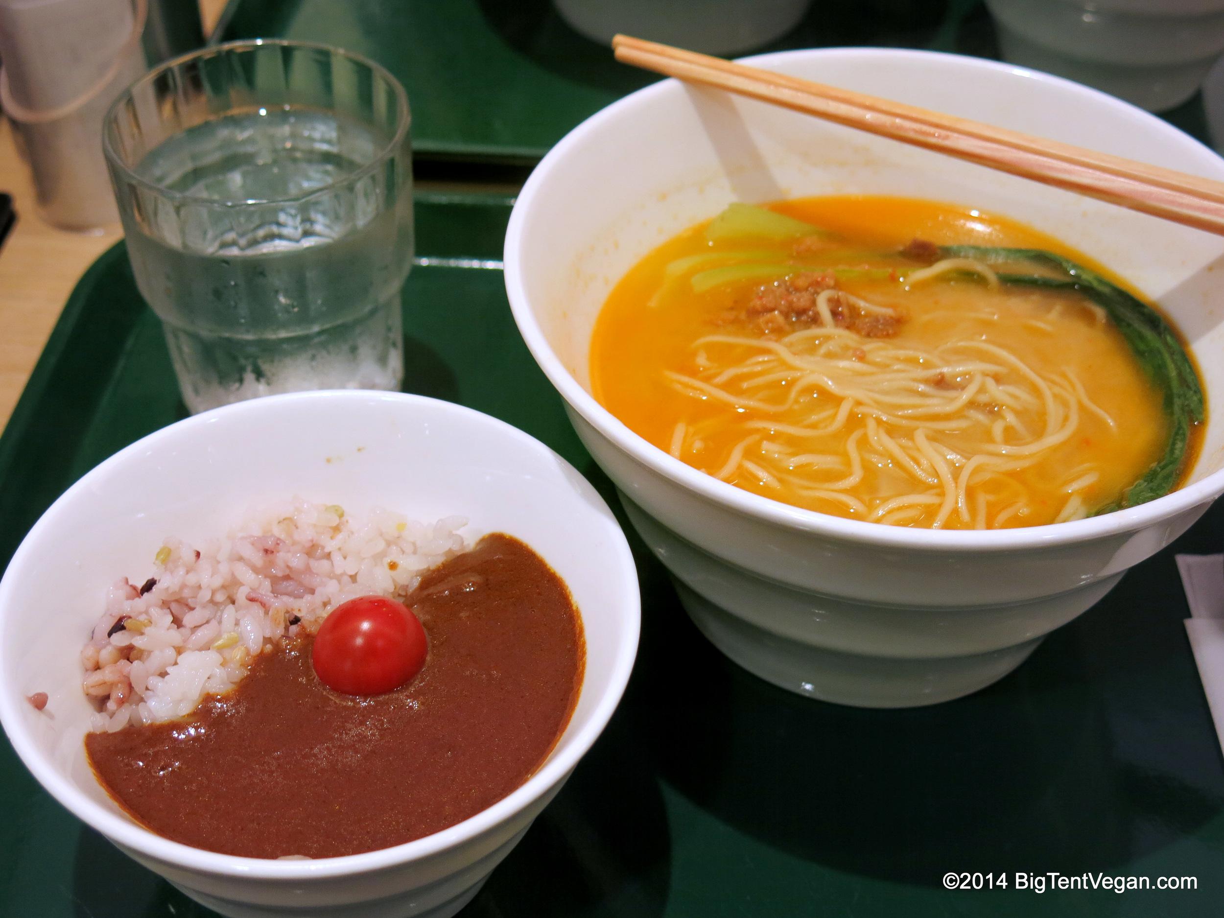 T's Tantan Signature Noodle Bowl (100% vegan restaurant inside Tokyo Station)